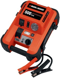 Black & Decker JUS500IB 1000 Peak Amp Jump Starter with Built in Compressor