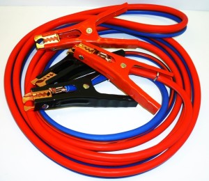 SUPER HEAVY DUTY 500 amp 6 gauge No Tangle Battery Booster cables